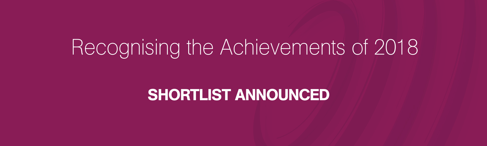 Shortlists Announced