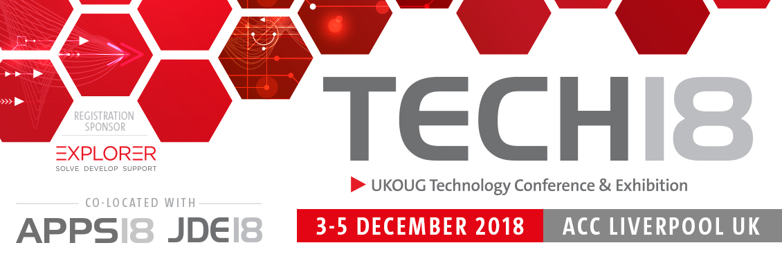 UKOUG Tech 2018 Conference, Liverpool